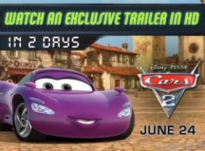 Cars 2 trailer will appear in 2 days
