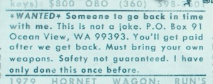 Safety Not Guaranteed Advert