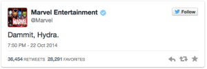 Marvel Studios Tweet