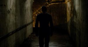 Daredevil moving through a tunnel